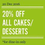 20% Off Cakes and Desserts (Dine-in Only) at Marché Mövenpic