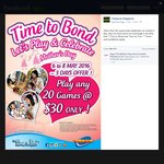 Timezone Singapore: Play Any 30 Games for $30 (Friday 6th to Sunday 8th May)
