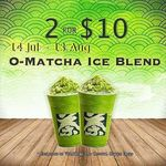 Tsujiri 2 x O Matcha Ice Blend for $10 @ The Central Clarke Quay