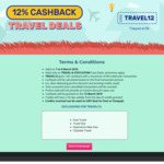 12% Cashback on Travel Deals at Fave (previously Groupon)