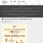 Free Bubble Tea from Selected Outlets at Downtown East