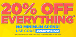 20% off Everything Including Sale Items at JD Sports