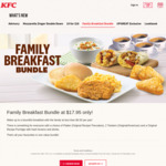 Family Breakfast Bundle for $17.95 at KFC