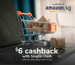 $6 Cashback ($60 Min Spend) at Amazon SG with Singtel Dash [Friday to Sunday]