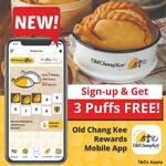 Free 3 Old Chang Kee Puff When You Download and Sign-up on Old Chang Kee Rewards Mobile App