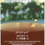 1 for 1 Venti-Sized Chocolate, Strawberry Choux Cream or Almondmilk Mocha Frappuccino at Starbucks (Members)