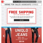 Free Shipping with No Minimum Spend at UNIQLO