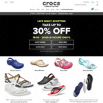 30% off Sitewide + Free Shipping (No Minimum Spend) at Crocs