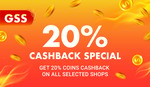 20% Cashback (Shopee Coins, $10 Minimum Spend) on Selected Stores at Shopee