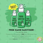 Free Hand Sanitiser Bottle from Chinatown Point