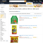 $8 off ($60 Min Spend) on Participating Nestle Products at Amazon SG