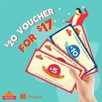 $20 Pezzo Pizza Voucher for $17 via Shopee