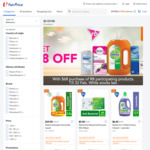 $8 off ($68 Min Spend) on RB Participating Products at FairPrice On