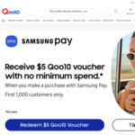 Make a Purchase with Samsung Pay, Get a $5 off No Min Spend Voucher at Qoo10