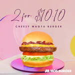 2 Cheezy Wagyu Burgers for $10.10 at MOS Burger