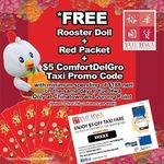 Free $5 ComfortDelGro Taxi Promo Code, Rooster Doll & Red Packets with $188+ Spend at Yue Hwa (Chinatown & Jurong Point)