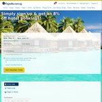 Extra 8% off Hotel Bookings at Expedia