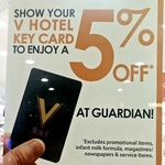 5% off at Guardian for V Hotel Guests (Lavender MRT)
