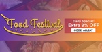 8% off All Dining Deals at Fave (previously Groupon) - Food Festival [Day 5]