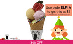 $1 for 3 Scoops of Ice Cream on a Waffle Cone from Anderson's of Denmark via Fave (previously Groupon)