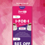 1 for 1 Hot Drinks at Food Republic & 50% off Chicken Rice at Sergeant Hainanese Chicken Rice with FavePay Payment via Fave App