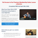 Free Guitar Lessons (U.P. $29 USD/Month) from GuitarJamz