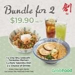 Cha Su Uobushi Tonkotsu Ramen, Pork Yakiniku Don & 2x Drinks for $19.90 at Sō Ramen via GrabFood