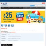 $25 off Flights ($400 Min Spend) @ Zuji