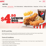 Lunch Box for $4.95 at KFC (11am to 4pm)