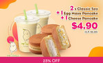 2x Classic Soy, 1x Egg Mayo Pancake & 1x Cheese Pancake for $4.90 (U.P. $6.40) at Mr Bean via Fave