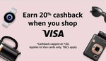20% Cashback (Max $20) with Visa Debit/Credit Cards at Amazon SG