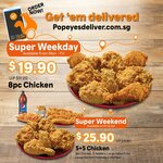 5pc Chicken, 5pc Tenders, Large Cajun Fries, Large Mashed Potatoes & 1.5L Drink for $25.90 at Popeyes Delivery (Fri & Sat)
