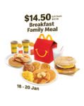 Breakfast Family Meal for $14.50 at McDonald's (via App) [18-20 Jan]