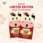 Free Set of Limited Edition Red Packets with Any Purchase at Bober Tea (Plus 10% off Bill with Red Packets)