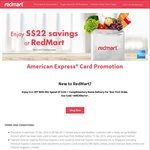 RedMart - $22 off for New Customers (Minimum $100 Spend) [American Express]