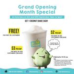 Free Coconut Shake (First 50) at Mr Coconut [2pm to 4pm]