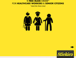 Free Meal for Healthcare Workers & Senior Citizen @ Stickies Bar