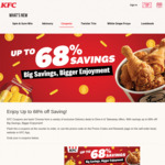 KFC Coupons: Up to 68% off