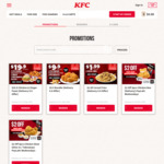 4pcs Chicken & 3pcs Nuggets for $9.90 at KFC Delivery