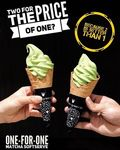 1 for 1 Matcha Soft Serves at Nana's Green Tea (Tuesday 21st to Wednesday 22nd November)