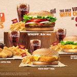 "Burger King $4.95 ""Flamin' Hot Deals"" - Whopper Jr. Meal, BK Nuggets (6pcs), Fish'N Crisp or Chick'n Crisp with Cheese"