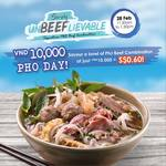 Pho Day at Pho Street: S$0.60 for a full-sized bowl of Signature Pho Beef Combination!