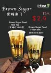 Brown Sugar Pearl Milk Tea for $2.90 (U.P. $3.90) at iTea