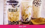 Brown Sugar Boba Milk Drink for $1 (U.P. $3.80) at Bober Tea via Fave (previously Groupon) - New Customers Only