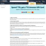 Spend $70, Get a Bonus $15 Amazon Gift Card at Amazon SG (DBS/POSB Mastercard)