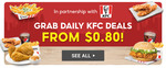 2pc Tenders $0.80, Cheese Fries $1.80, Zinger Meal $4.80 or 3pc Chicken Deluxe Box $8.80 at KFC via Shopee