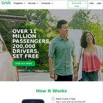 $7 Off 7 GrabCar Rides (after 2 Full-Fare GrabCar Rides)