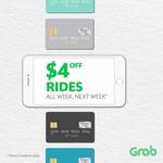 $4 off All Grab Rides Between Monday 21st and Sunday 27th August (Opt-in by 6pm, Sunday 20th August)