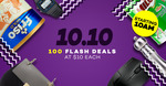 Lazada 10.10 Sale - 100 Flash Deals at $10 Each + 18% off Coupon Code (Capped at $10)