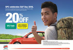 20% Discount on Petrol/Fuel at All SPC Outlets for SAF/SPF/SCDF Personnel